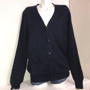 Joe Fresh Navy Blue Cardigan Buttoned Knit Sweater